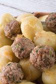 Dumplings with meatball — Stock Photo