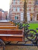 Holland resting bicycle — Stock Photo