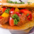 Stock Photo: Hungarigoulash with potato pancake