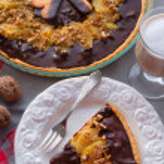 Pears chocolate tart — Stock Photo #41740237