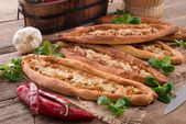 Home-baked pide — Stock Photo
