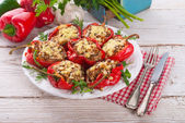 Paprika with rice fully — Stock Photo