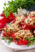 Paprika with rice fullly — Stock Photo