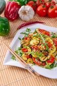 ワイルド ライスと野菜 — ストック写真