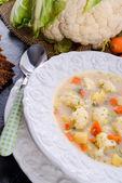 Cauliflower soup — Stock Photo