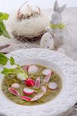 Green radish soup — Stock Photo