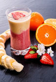Strawberry Banana smoothie — Stock Photo