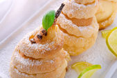 Pear in pastry — Stock Photo