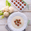 Cauliflower cream soup — Stock Photo #44954231