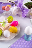 Easter table — Stock Photo