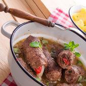Beef rouladen — Stock fotografie