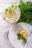 Polish vegetable salad — Stock Photo