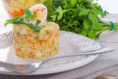 Polish vegetable salad — Stock Photo