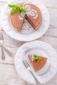 Chocolate cakes — Stock Photo
