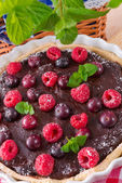 Chocolate tartelette — Stock Photo