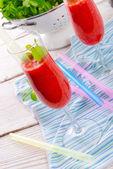 Strawberry smoothie — Stock Photo