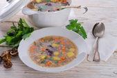 Barley Soup (Krupnik) — Stock Photo