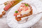 Rhubarb cake — Stock Photo