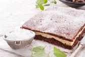 çikolata peynirli kek — Stok fotoğraf