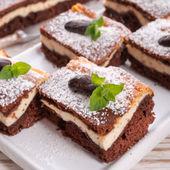 Chocolate cheese cake — Stock Photo