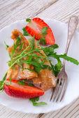 Fish fried Arugula — Stock Photo