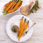 Caramelized carrots — Stock Photo