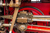 The technology of the steam locomotive — Stock Photo