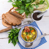 Cabbage stew with meat — Stock Photo