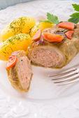 Baked cabbage rolls — Stockfoto
