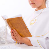 First Holy Communion — 图库照片
