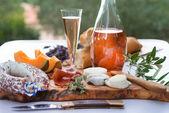 Cheese- ham plate A la Provence — Stock Photo