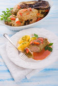 Baked cabbage rolls — Stock Photo