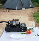 Camping pasta — Stock Photo