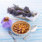 Nectarine tarte with honey — Stock fotografie