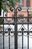 Elements wrought fence — Stock Photo