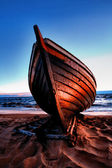 Fisherman boat on the beach — Stock Photo