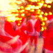 SantClaus on background of lights — Stock fotografie #22734051