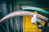 Detail vinobraní jízdního kola a dynama — Stock fotografie