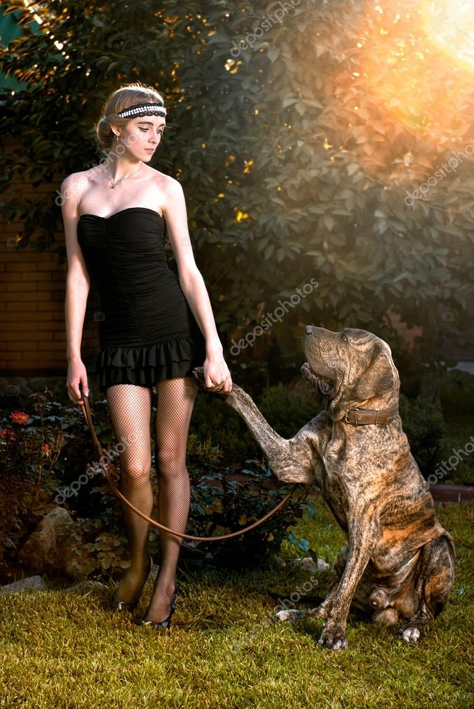 Large Dog Knotted With Woman   Dog Breeds Picture