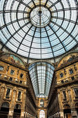 Old scenic galeria in Milano Italy — Stock Photo