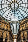 Old scenic galeria in Milano Italy — Stock Photo