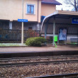 Railwaystation on the small Italy village — Stock Photo