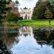 Sempione park with a lake it the city Milan, Italy — ストック写真