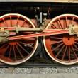 Old Steam train, wheels — Stock Photo