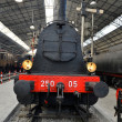 Stock Photo: Old Steam train on railway station