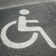 Stock Photo: Parking place for disabled with sign