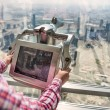 Stock Photo: Digital binoculars in dubai skyscraper
