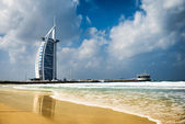 Burj Al Arab, One of the most famous landmark of United Arab Emirates — Stock Photo
