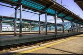 Modern railway station in Ukraine — Stock Photo