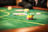 Casino table for card games — Stock Photo